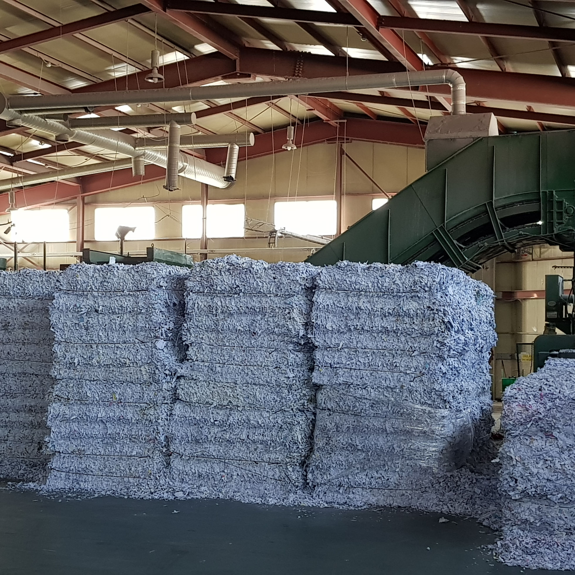 High quality shredded waste office paper / white waste paper for tissue (Grade A)