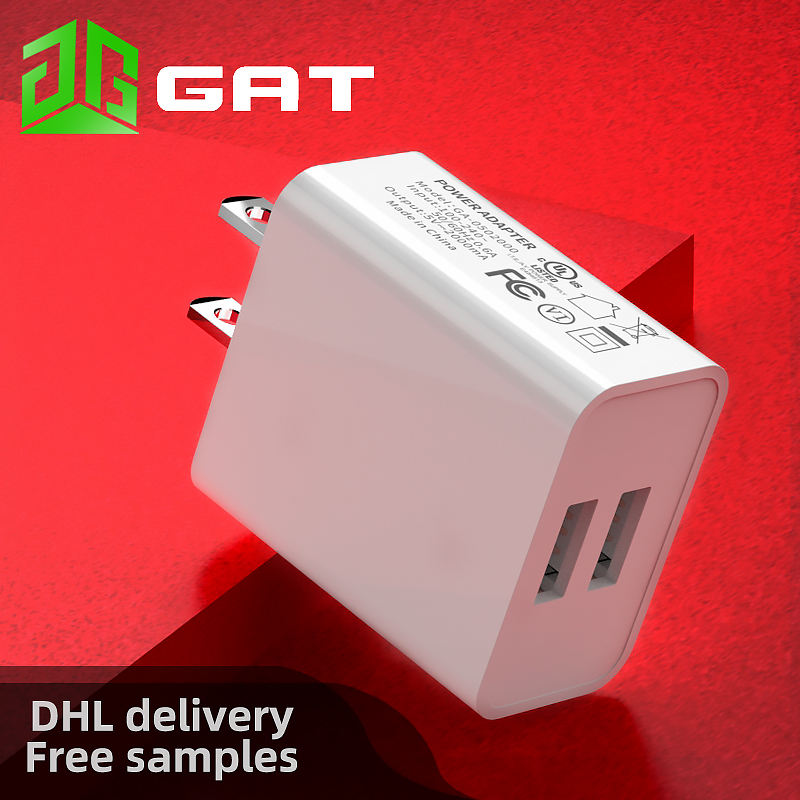5V 2A 2 USB American standard UL FCC certified wall charger US dual USB ports high-quality mobile phone charger