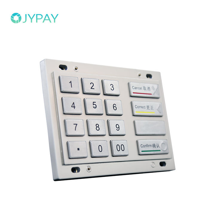 ATM Parts Waterproof 16 Digitals Keys Stainless Steel Metal PIN Pad Number Keyboard for Selfservice Terminal and Kiosk