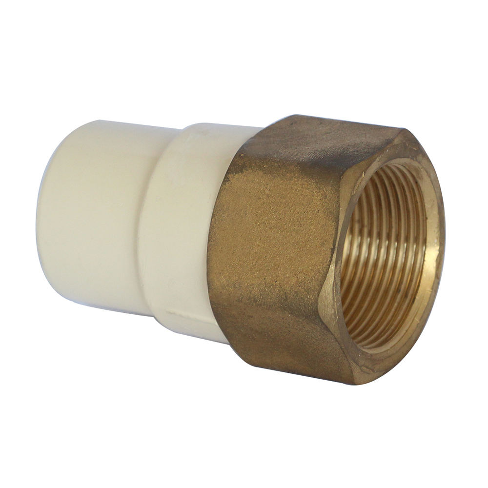high-quality ASTM2846 CPVC female Coupling quick connector with brass