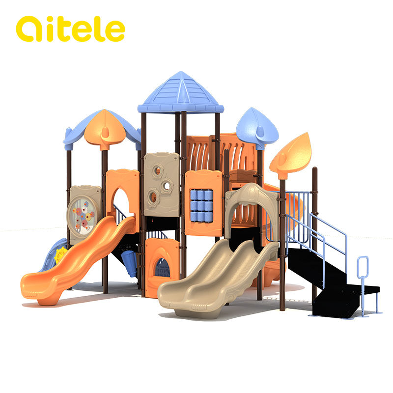 commercial plastic children outdoor playground equipment