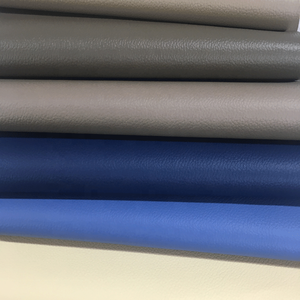 Blue Embossed Vinyl Fabric Customized PVC Upholstery Leather