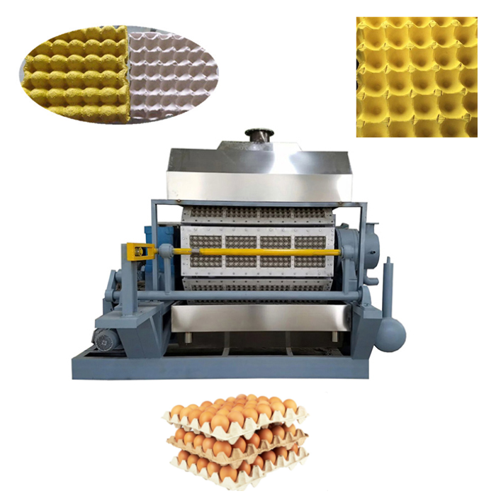 Automatic paper pulp egg tray production line / waste paper recycle used egg tray machine / small machine making egg tray