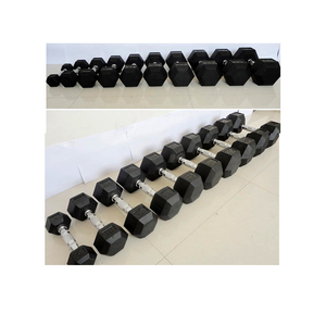 Amazon Popular High Quality hexagon dumbell 2020 Hot sell dumbbell hex logo customized rubber hex dumbbells