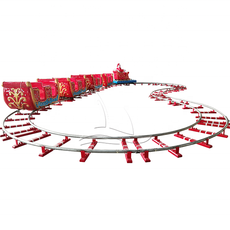 Family entertainment center train ride supplier electric mini track train for sale