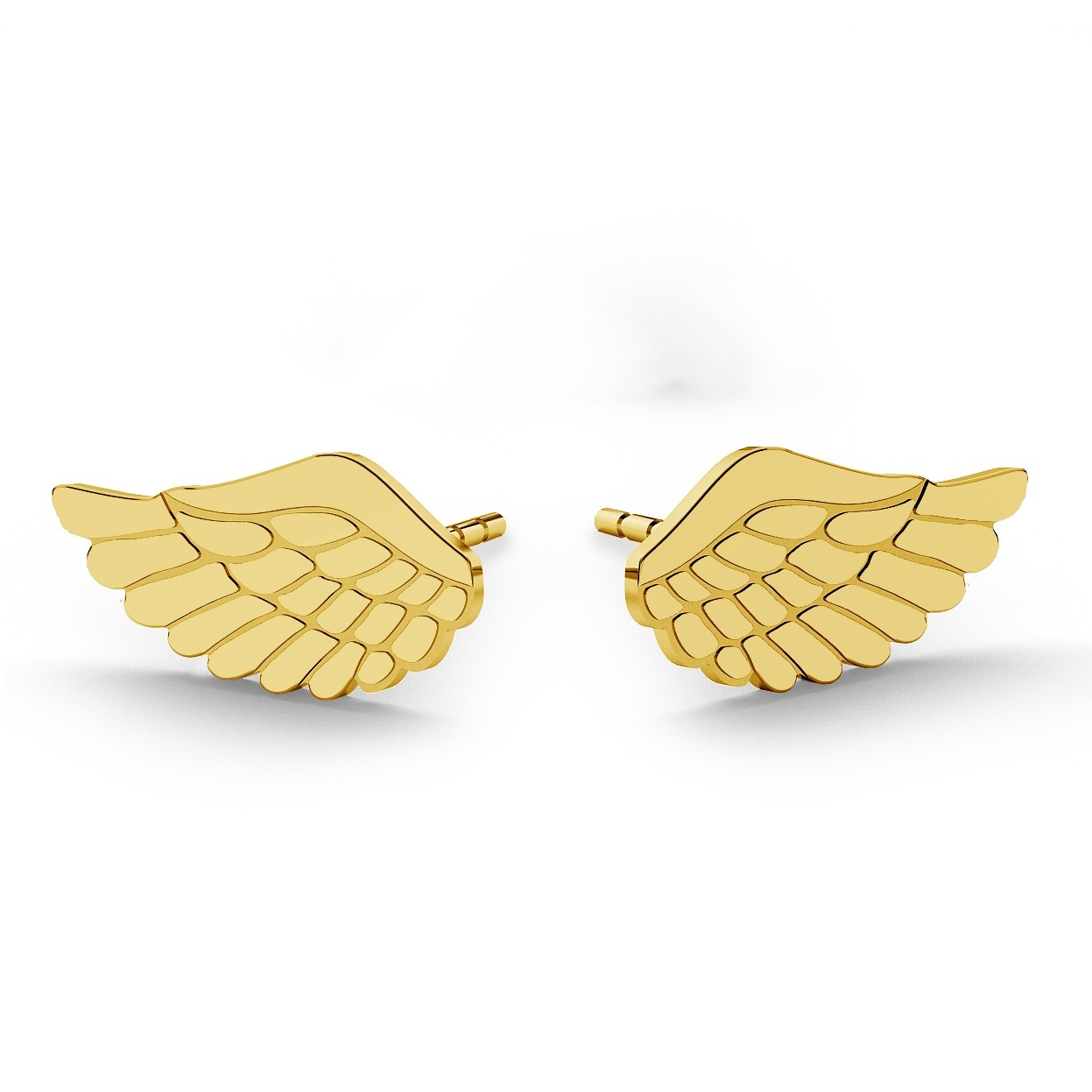 Wholesale Custom New Fashion Stainless Angle Wings Feather Stud Earrings Personality Vintage For Women Jewelry Earrings