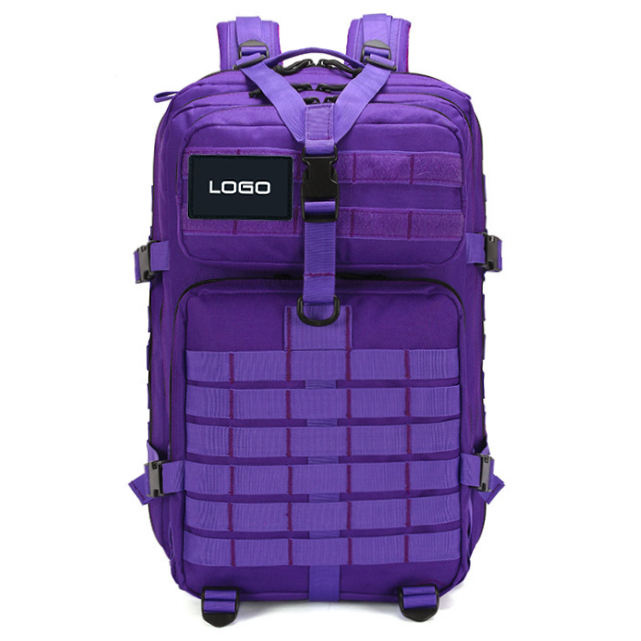 Hot sale women lady purple red tactical military backpack