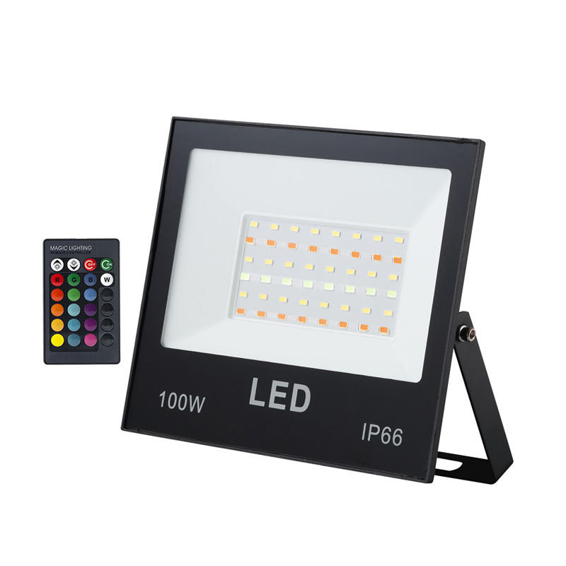China led floodlight manufacturer factory IP66 for waterproof RGB Solar LED Floodlight 10w 20w 30w 50w 100w 200w 300w 400w 500w
