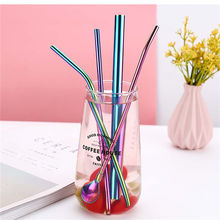 Wholesale Metal Drinking Straw Silicone Tip For  Stainless Steel Straw and Clip for Various Beverage