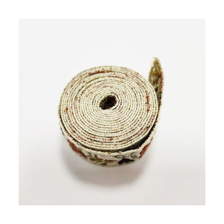 Manufacturers jacquard woven custom multicolor sp wire webbing for clothing