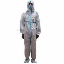 Disposable Type 5/6 CE FDA Clothing Coverall Waterproof Chemical  Biological Isolation Hazmat Suit Coveralls