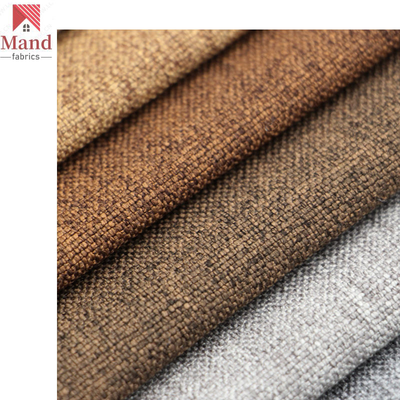 Mand Textile hot sale high quality ready stock plain dyed pu coated water proof polyester oxford linen canvas fabric for bag