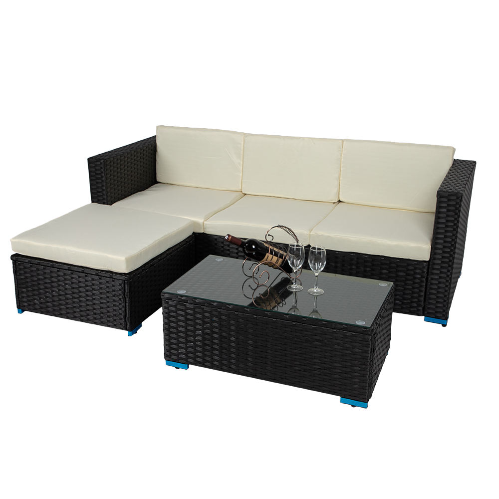 All Weather Patio Furniture Luxury Wicker Rattan Sofa HD Designs Garden Sofa Rattan Outdoor Furniture