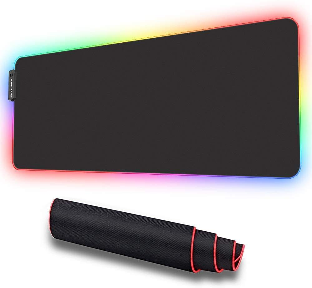Fabricage Voor Grote Rgb Gaming <span class=keywords><strong>Muismat</strong></span>, Archeer Led Zachte Extra Uitgebreide Grote Muis Mat, anti-Slip Rubberen Basis