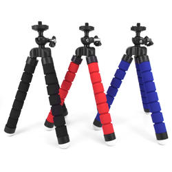 Factory Sale S size Flexible Sponge Octopus Tripod with Phone Clip Holder for Smartphones and  Gopros Action cameras
