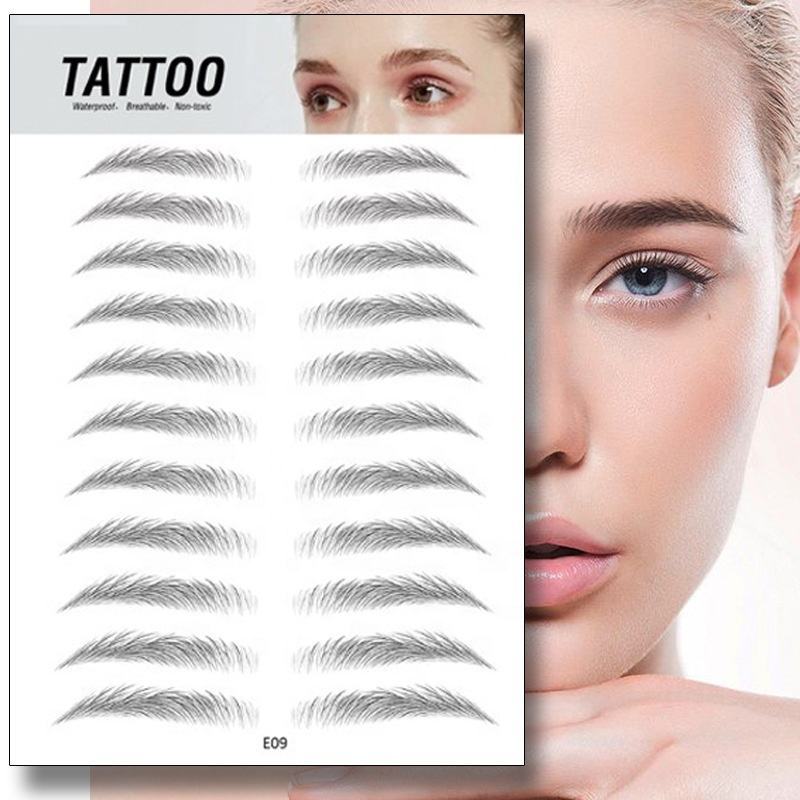3D Eyebrow Sticker Bionic Brow Semi-Permanent Water Transfer Waterproof Tattoo Eye brow Embroidery Eyebrow Patch Makeup Tools
