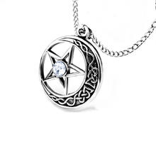 2020 European and American retro pentagram men's pendant simple Celtic trend crystal necklace jewelry