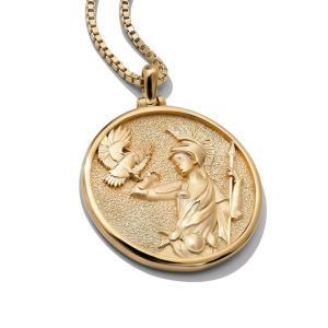 Women silver jewelry goddess of healing vintage greek coin necklace