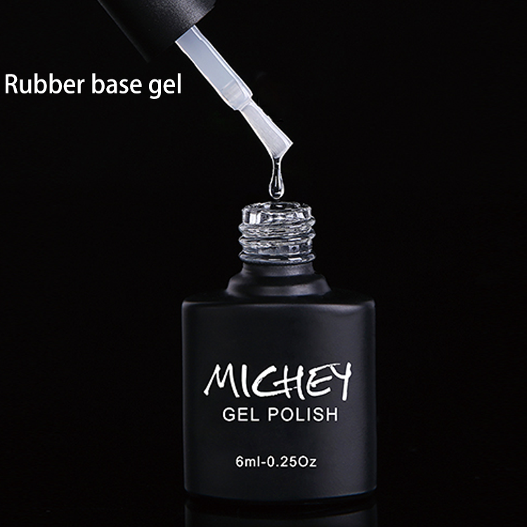 Dingze gel nail high quality cheap price 15ml 7.5ml 10ml rubber base coat top coat rubber base gel