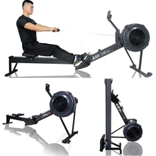 Indoor commercial cardio gym master air rower machine concept