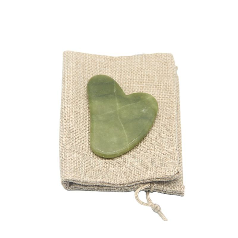 Private Label Natural Southern Jade Gua Sha Body Scraping Massager Tool Guasha Scraper for Face
