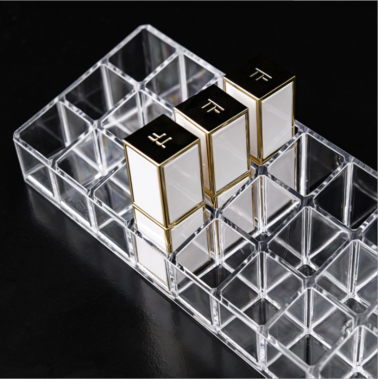Wholesale Customized good Quality transparent custom Cosmetic storage organizer box TF lipstick storage