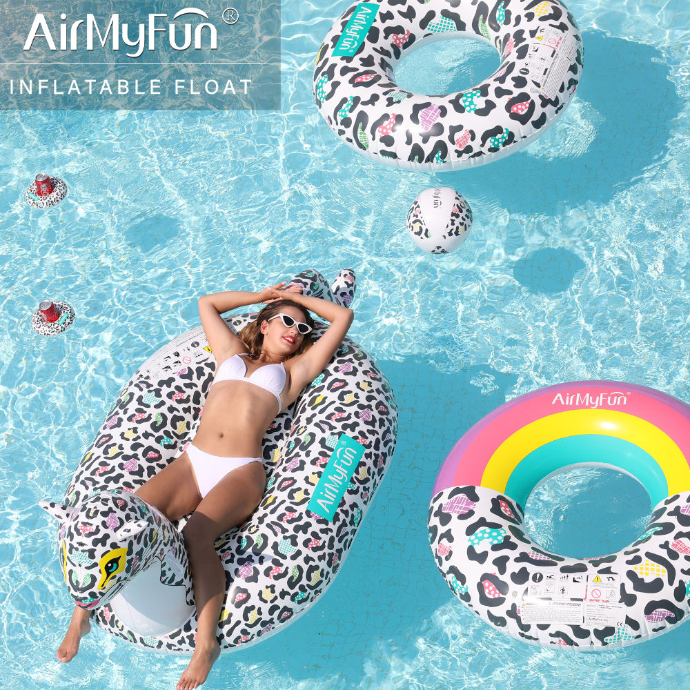 Airmyfun PVC Giant Leopard Float Inflatable Water Pool Float