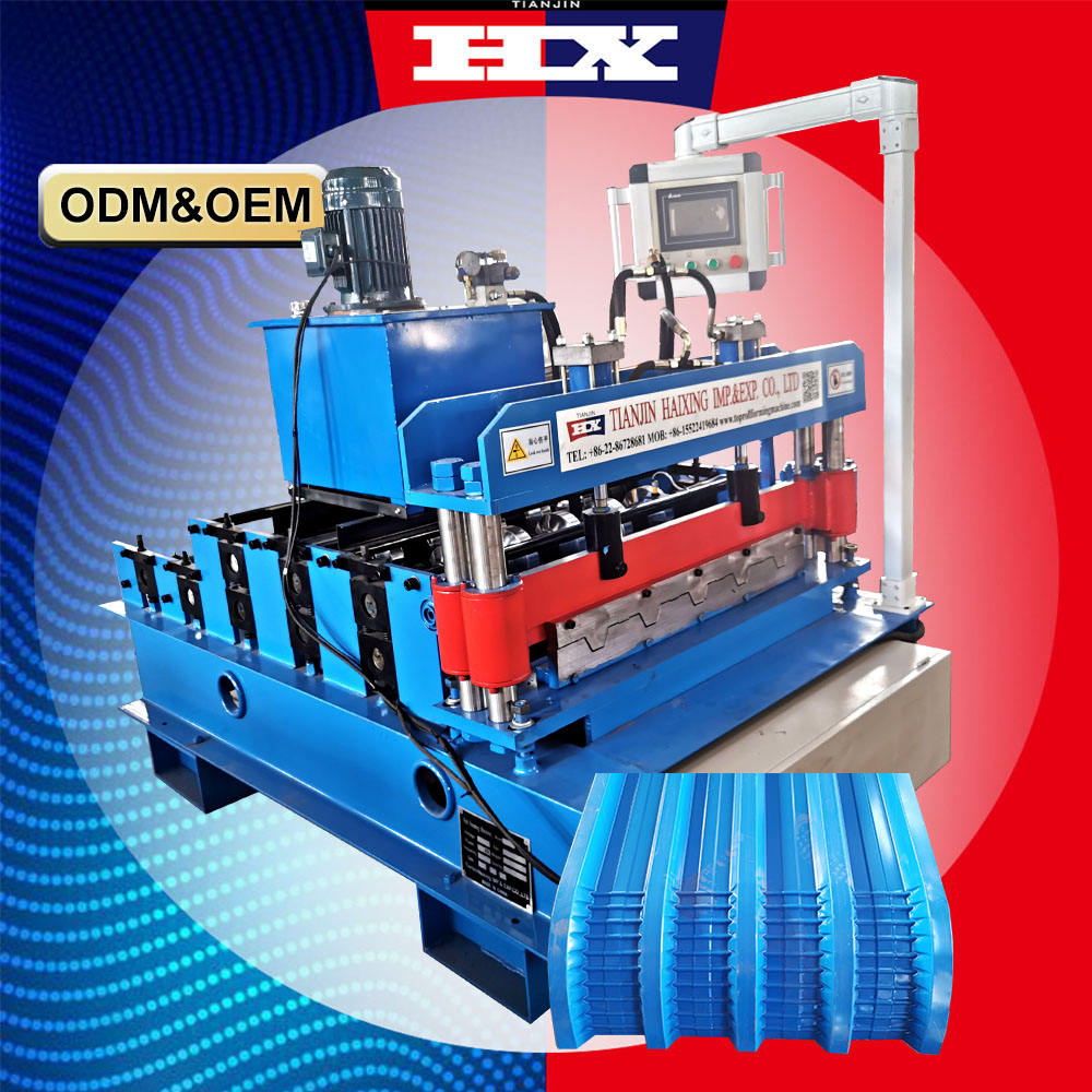 Tile making Roll Former Ribbed Aluminum Roofing crimping Made Tile For Color steel Metal arch Roof Panel curving machine