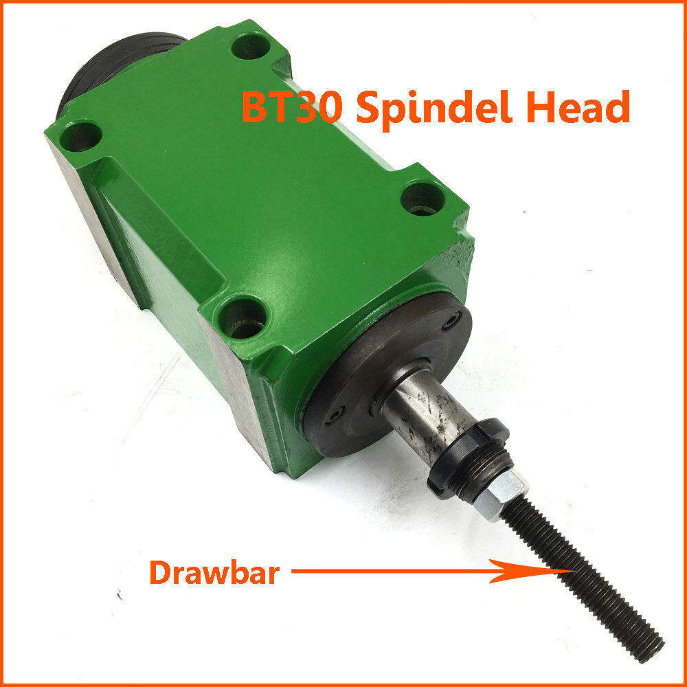 BT30 Taper Spindle Unit 7:24 Mechanical Power Head with Drawbar for Drilling Milling