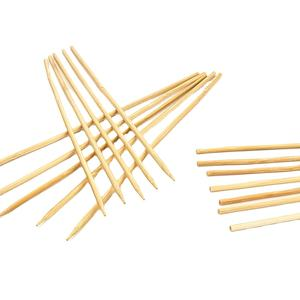 wholesale custom BBQ bamboo skewer disposable bamboo stick satay bamboo skewer