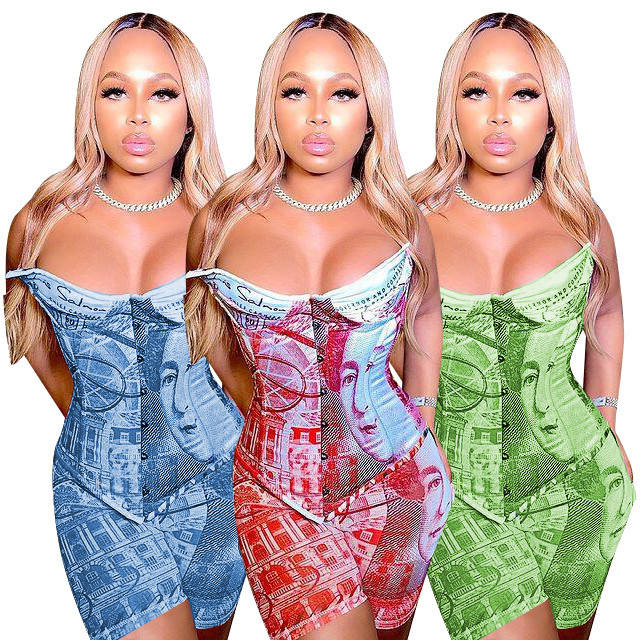 Corsets Tops Women Sexy Jumpsuits Lingerie Summer Clothing Two Piece Set Women 2 Piece Outfits Pant Sets Waist Trainer