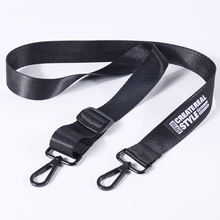 Custom nylon black printed shoulder strap for bags