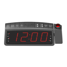 2020 New Design Led Digital Projector Home Alarm FM Radio Projection Clock Radio