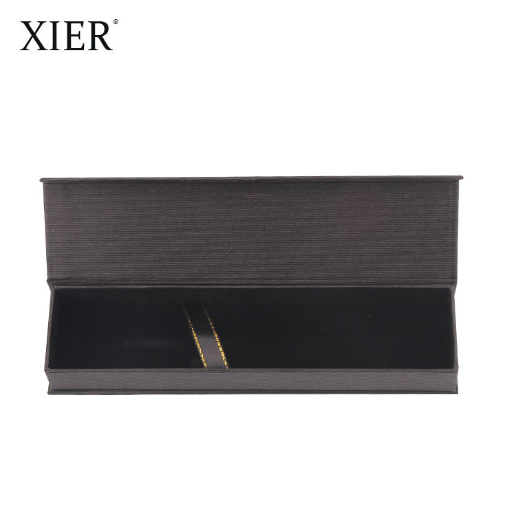 Fashion Custom Design Logo Luxury Individual Package Paper Box High Quality Black Case Box for Gift Pen