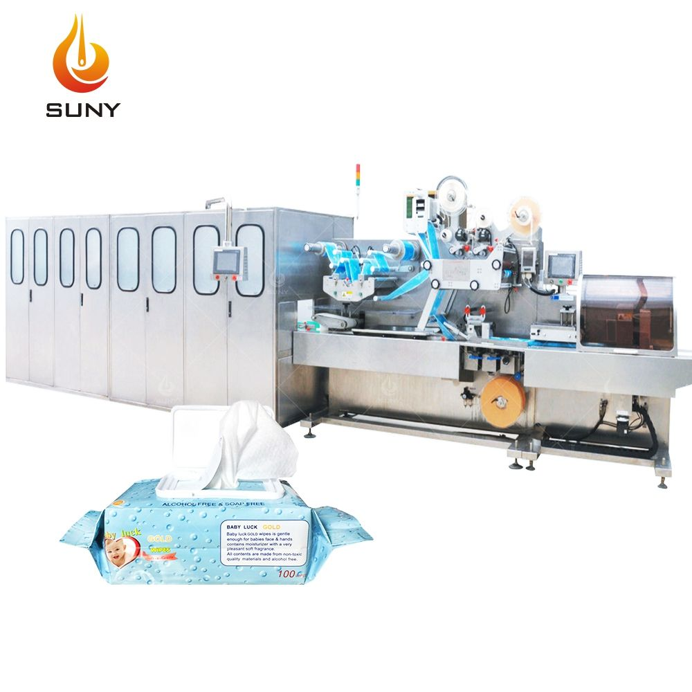 Wipes Making Machine Sanitized Wet Disinfection Wipes Pouch Making Machine Product Line