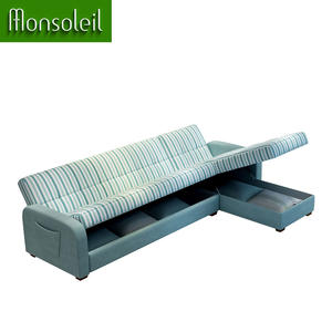 Modern L Shaped sectional sofa cum bed wholesale cheap sofa bed with Storage
