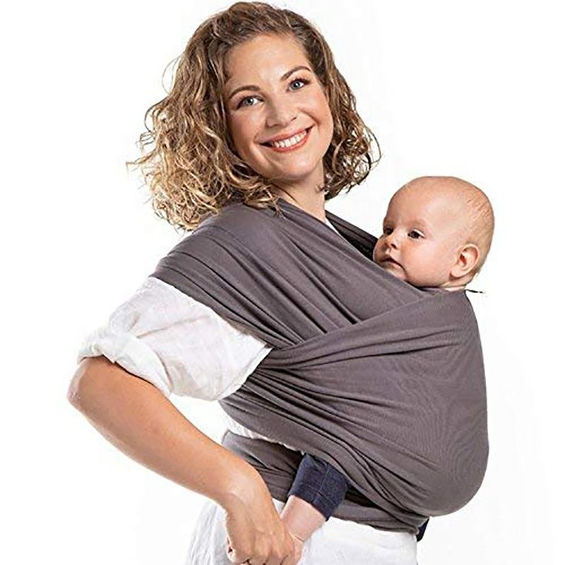 Amazon Custom Size Stretchy Infant Sling Soft Organic Cotton Baby Wrap Carrier