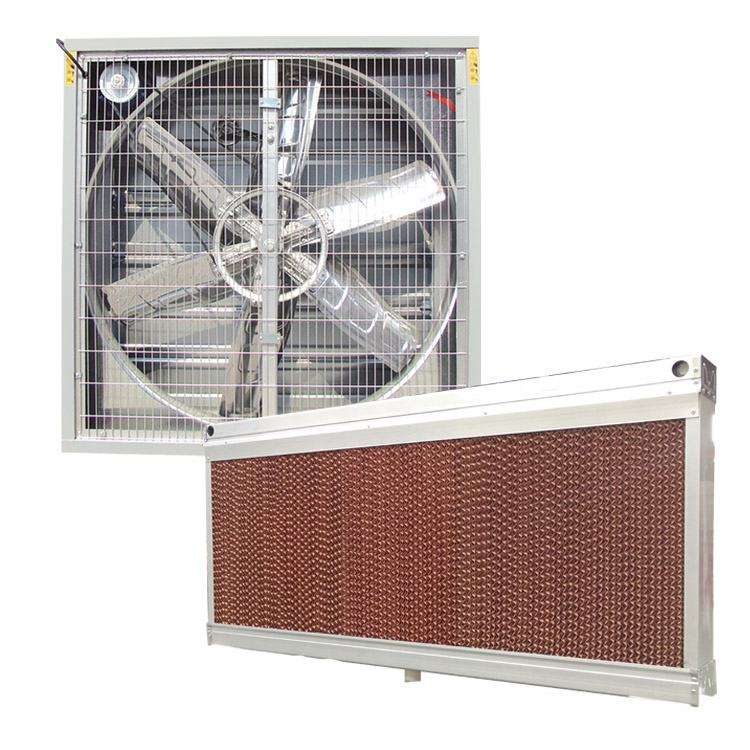 pad - fan evaporative system for greenhouse cooling