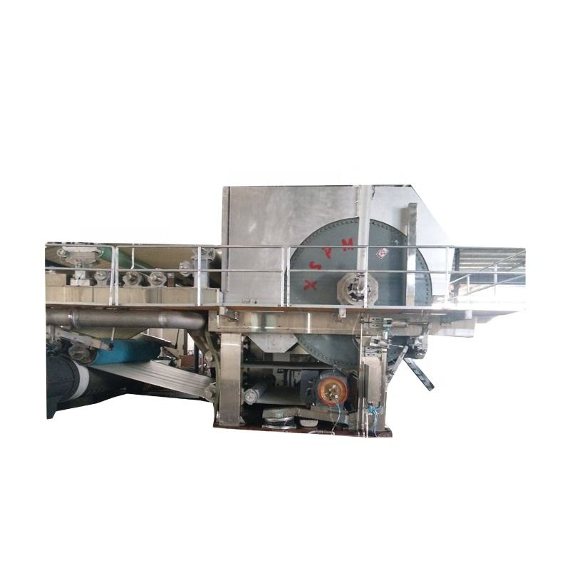 Raw material wood pulp paper plate machine price list 1880mm yankee tissue machine