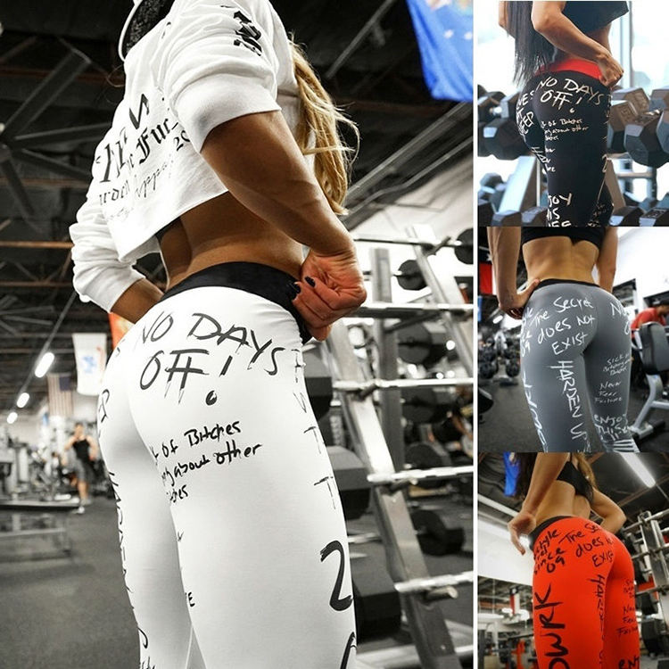 New Style Fashion custom logo high waisted workout leggings butt lift printed leggings