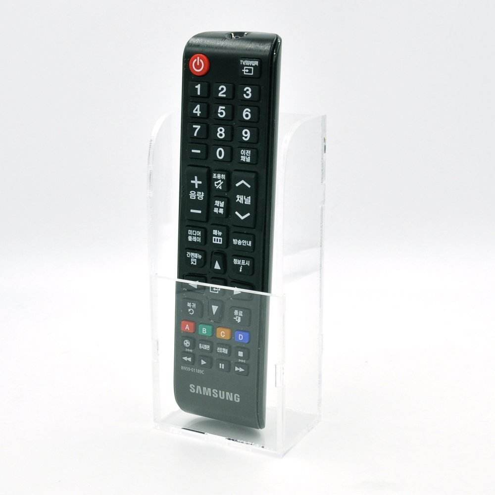 Multifunction Hotel Wall Mounted Tv Air Conditioner Controller Clear Acrylic Remote Control Holder