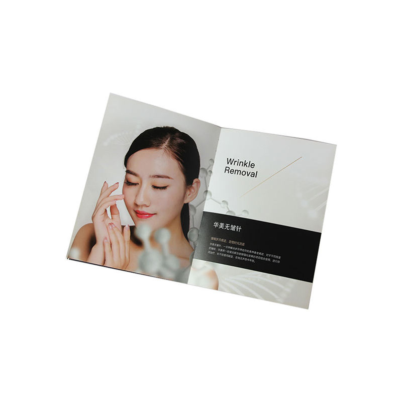 Colorful paperback saddling binding catalogue brochure design printing booklet service softcover book