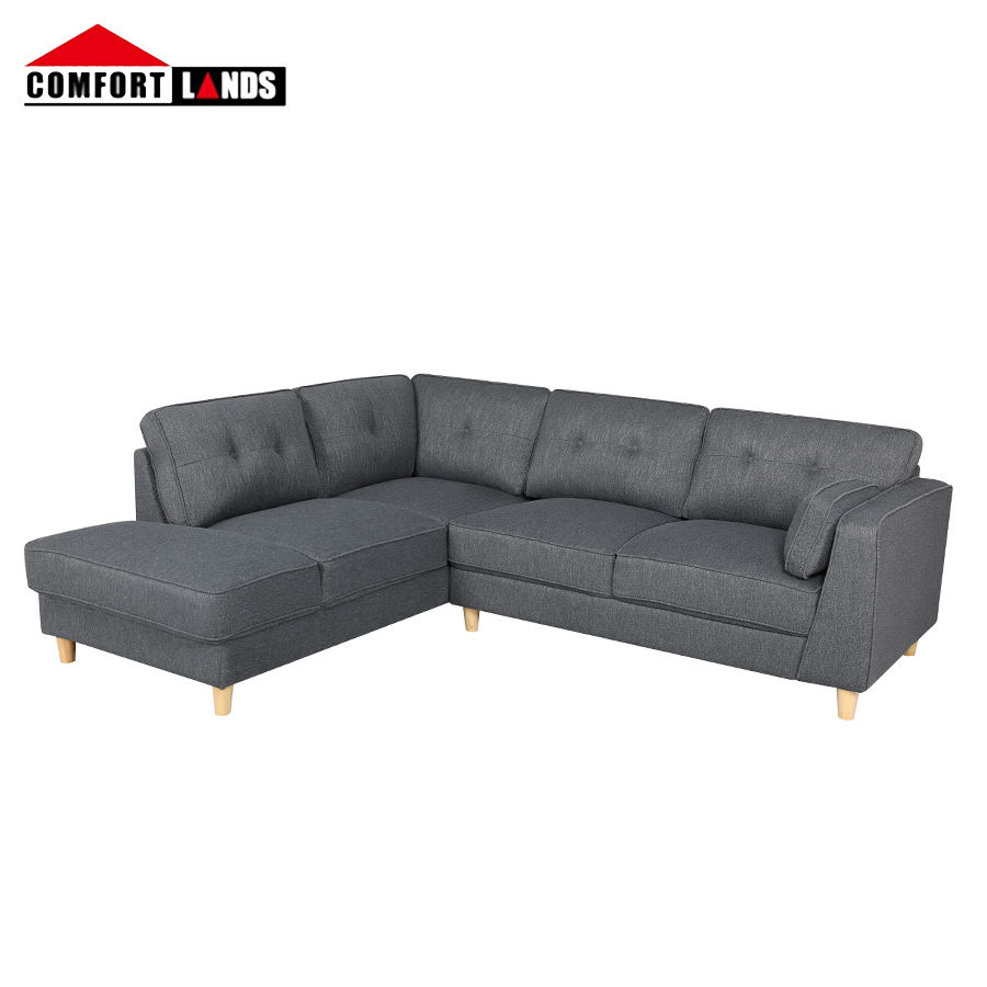 Hot sale european modern sofas and couches living room furniture grey corner sofa