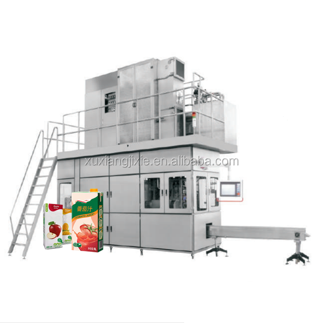 paper carton box aseptic juice filling packing machine
