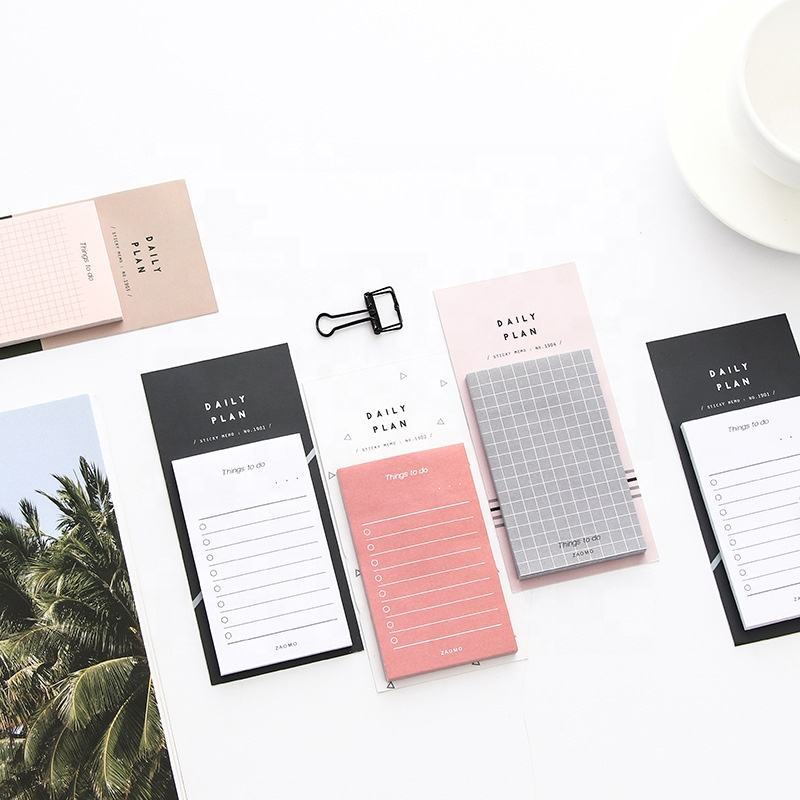 Writing memo pad convenient using daily plan sticky notes