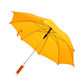 Yellow 23 Inch China Solid Staight Rain Umbrella Manufacturer