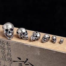 S925 silver gothic punk skull pendant alternative fashion pendant for wholesale