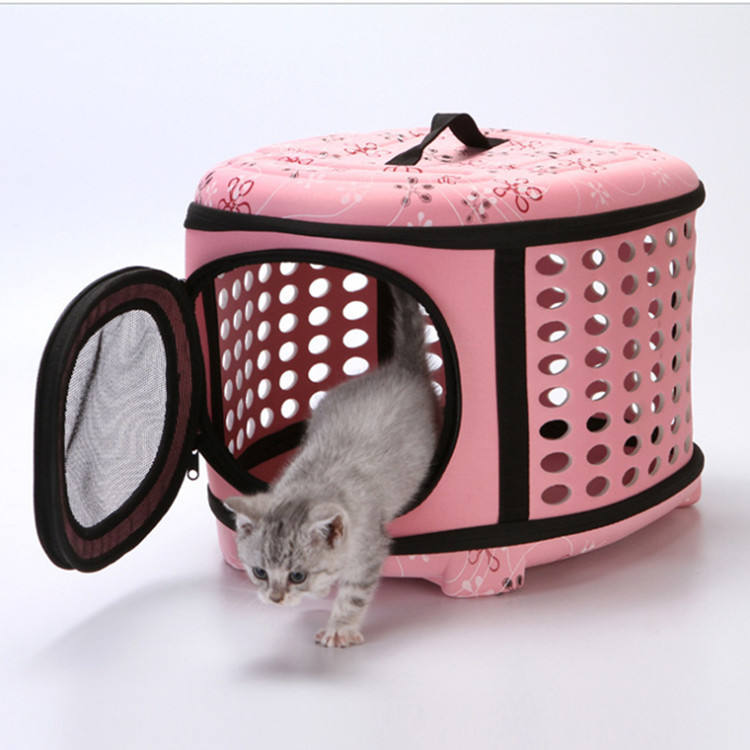Outdoor Portable Breathable Folding EVA Pet Dog Cat Travel Carrier Tote Holder Bag for Small Animals