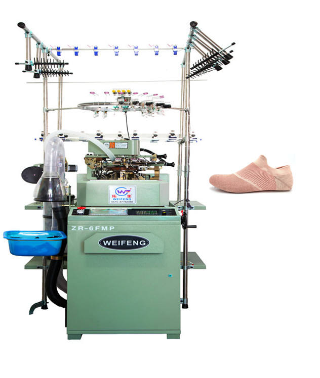 4inch high output professional fully computer shoe upper socks making machine