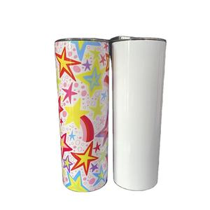 Wholesale Gifts Customized logo Promotion Double walled Stainless steel 20 oz Slim Blank Skinny DIY Sublimation tumbler